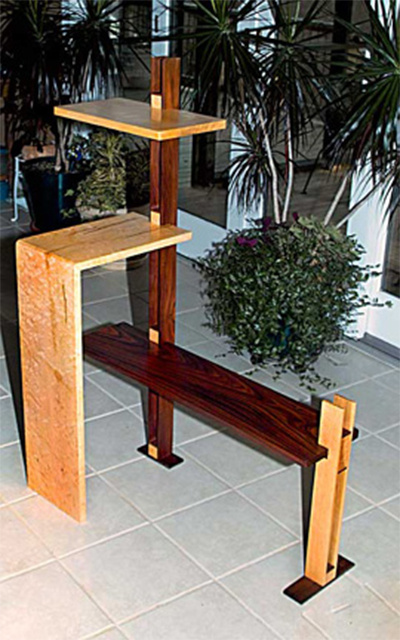 Bench with Tower Shelf
